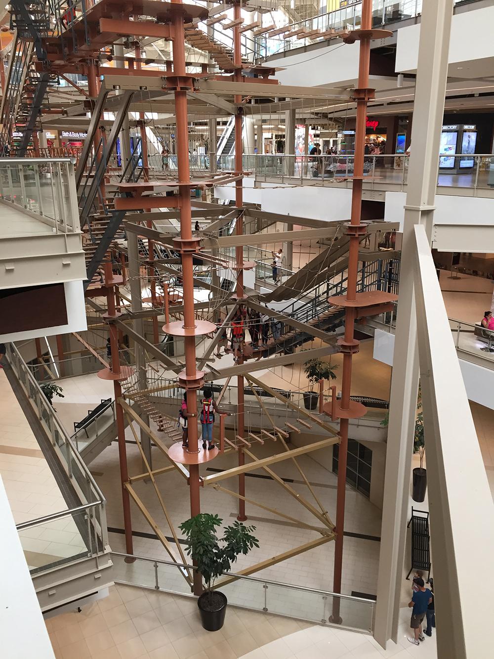 パラセイズ・センター内にある世界最大級の屋内クライミング施設です。まじ高い。