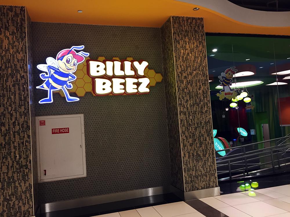 パリセードに来たらやはりここ!「Billy Beez」!別名「滑り台天国」です。