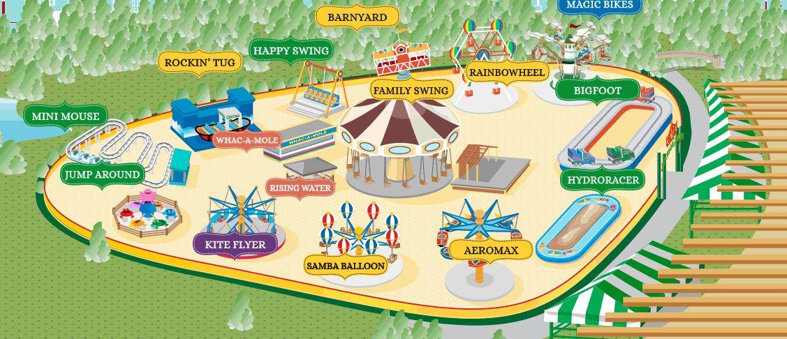 ビクトリアガーデン園内マップ