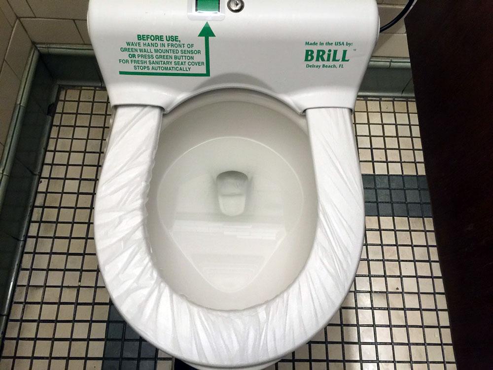 恐らくマンハッタンで一番イケてるトイレここにあり!!w どこまで衛生的かは謎w