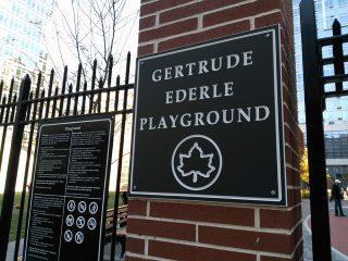2016年11月にできたばかりの公園:Gertrude Ederle Playground