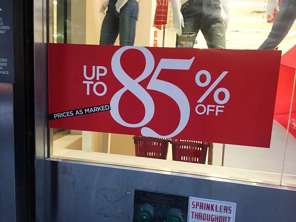 バカセールあり。 最大85%も嘘じゃない?